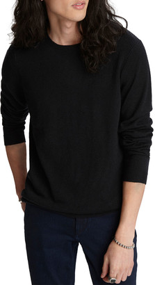 John Varvatos Men's Solid Cashmere-Linen Sweater