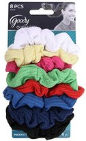 Goody Ouchless Ribbed Hair Scrunchies/Wraps - 8 Pk, Assorted Colors