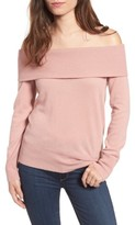 Cupcakes And Cashmere Women's Roderick Off The Shoulder Cashmere Sweater