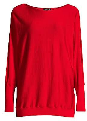 Lafayette 148 New York Women's Boatneck Wool & Silk Dolman Sweater