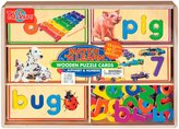 N. T.S. Shure Match 'N Learn Wooden Puzzle Cards - Alphabet & Numbers
