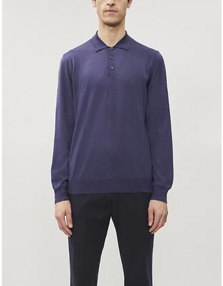 Corneliani Classic wool-silk-cashmere blend polo shirt