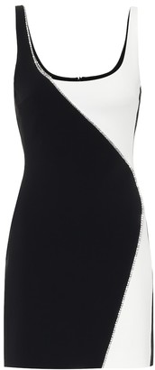 David Koma Embellished cady minidress