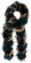 Adrienne Landau Multicolor Fur Stole