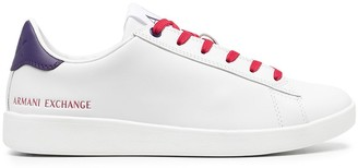 Armani Exchange Low-Top Leather Sneakers