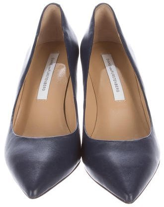 Diane von Furstenberg Leather Pointed-Toe Pumps