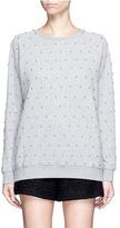 Giamba Beaded raglan sleeve cotton sweatshirt
