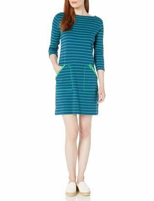 Joan Vass Women's Stripe Cotton Interlock Dress