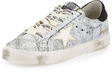 Golden Goose Deluxe Brand May Star Low-Top Sneaker, White Crackled/Gold
