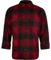 River Island Boys red check shirt