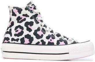 Converse Leopard Print High Top Sneakers