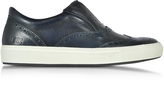 D'Acquasparta D'Acquasparta Urban Dark Blue Leather Men's Sneaker