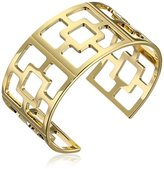 Trina Turk Gold-Plated Palm Springs Block Thick Cuff Bracelet