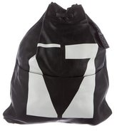 McQ Leather Drawstring Backpack