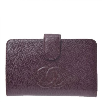 Chanel Burgundy Leather Wallets