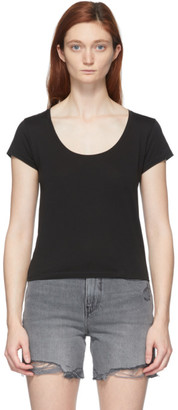 Frame Black Le High Rise Scoop T-Shirt