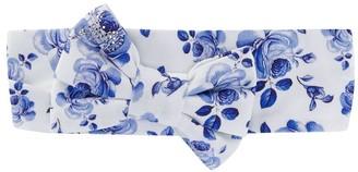MonnaLisa Floral Print Bow Headband
