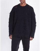 Yeezy Destroyed Ribbed-knit Jumper