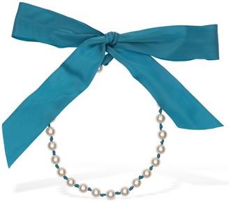 Moschino Imitation Pearl & Rayon Necklace