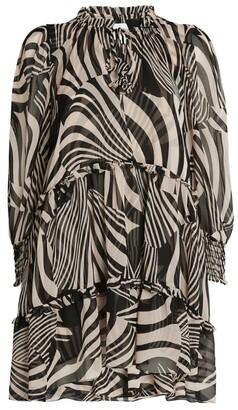MISA Marisa Zebra Print Dress