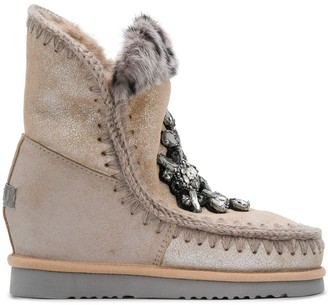 Mou Eskimo crystal-embellished boots
