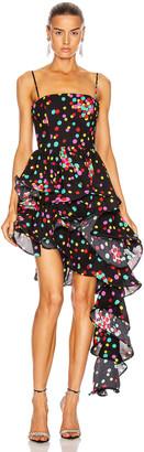 Carmen March CARMEN MARCH Asymmetrical Ruffle Dress in Confetti | FWRD