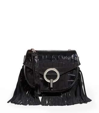 Sandro Patent Leather Cross Body Bag