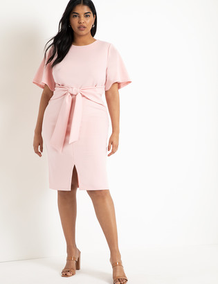 ELOQUII Tie Waist Dress