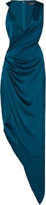 Cushnie Asymmetric Silk Gown