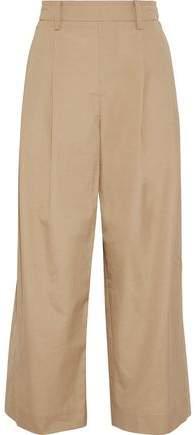Vince Cropped Cotton-poplin Wide-leg Pants