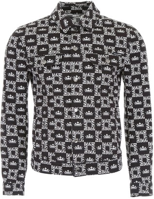Dolce & Gabbana Crown Logo Monogram Print Jacket