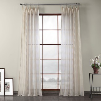 EFF 1-panel Sirius Patterned Linen Sheer Window Curtain