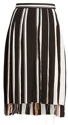 Thom Browne Drop-Back Pleated Skirt