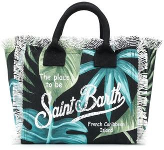 MC2 Saint Barth Leaf Print Tote