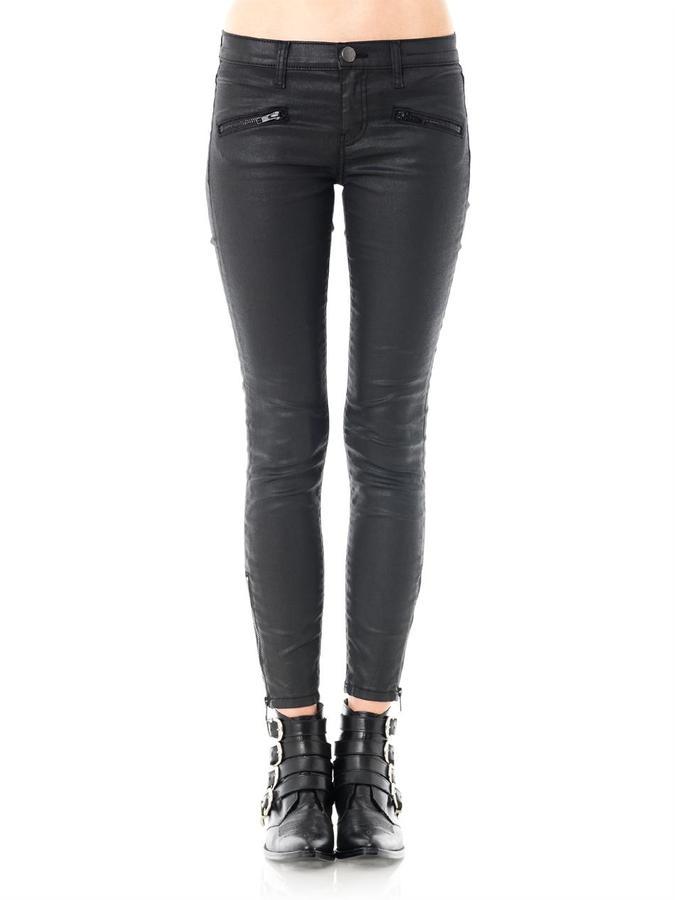 Current/Elliott Soho stiletto mid-rise skinny coated jeans