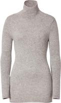 Dear Cashmere Cashmere Turtleneck Sweater in Grey Melange