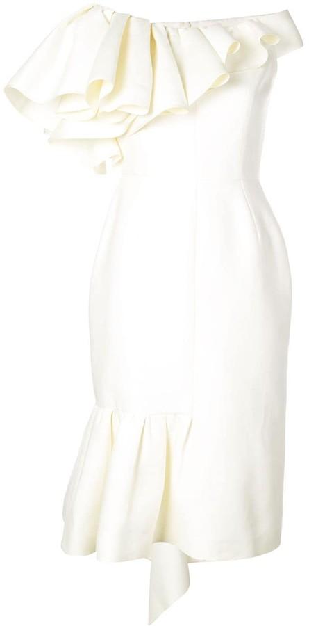 Dice Kayek Off-The-Shoulder Dress