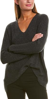 Eileen Fisher Sparkle Wool-Blend Sweater