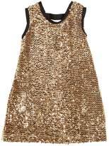 Miss Grant Sequined Velvet Party Dress