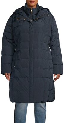 Cole Haan Quilted Cinch-Waist Gilet Down Coat