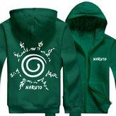 Splendid-Dream Zip-up Jacket Splendid-Dream Unisex Long sleeve Naruto Full Zip Sweatshirt Hooded (M, )