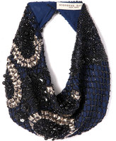 Mignonne Gavigan Le Charlot Beaded Scarf Necklace, Navy