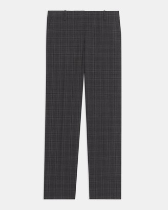 Theory Treeca Full Length Pant in Plaid Good Wool