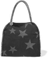 Stella McCartney The Falabella Small Printed Denim Shoulder Bag - Black