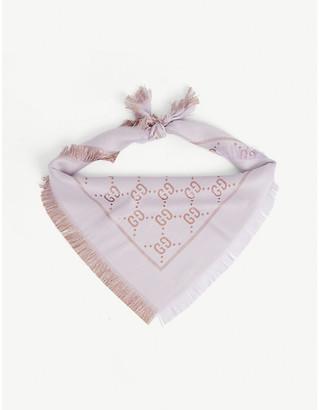 Gucci Kids GG logo-print lurex shawl
