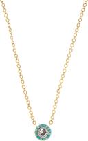 Irene Neuwirth Diamond, turquoise & yellow-gold necklace