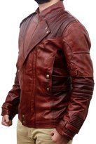 The Custom Jacket Star Galaxy Lord of the Guardians Jacket - Vol.2 Motorcycle Leather Costume, XXL