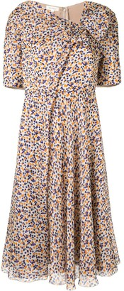 DELPOZO Dot Print Dress