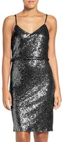 Jenny Yoo Women's 'Emery' Spaghetti Strap Sequin Blouson Dress