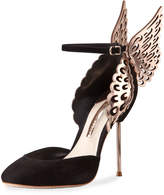 Sophia Webster Evangeline Angel Wing d'Orsay Pump, Black/Rose Gold